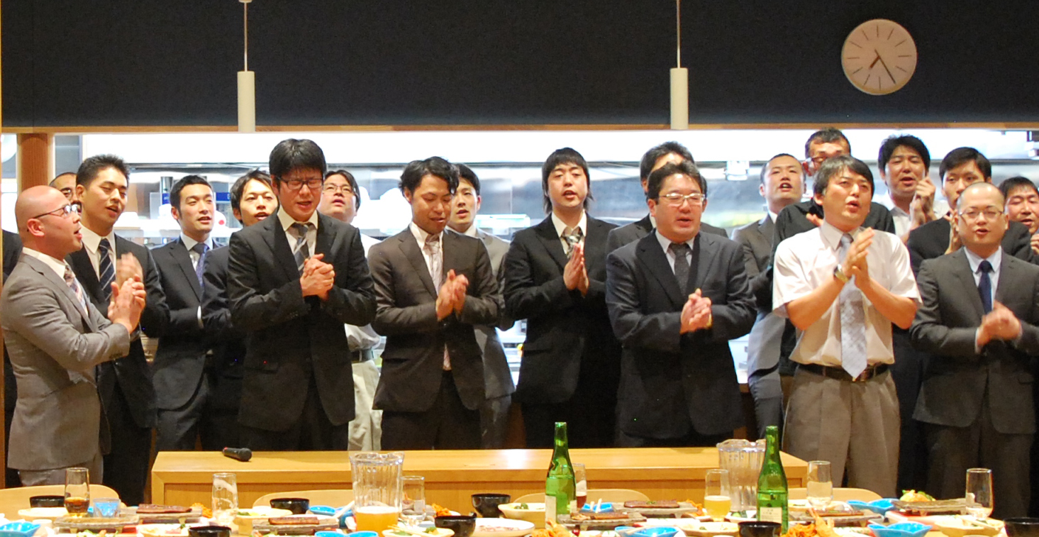 All Brewers joined in singing the Sakauta, or sake brewing song.
