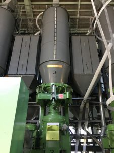 Vertical Rice Milling machine.