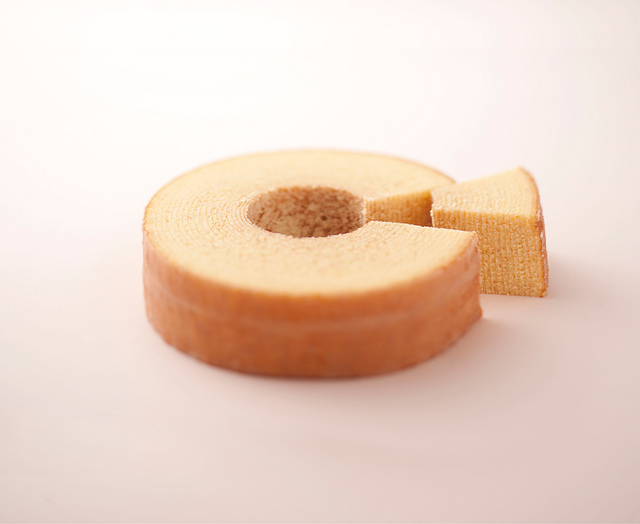 "Hakkaisan ""Satoya"" Baumkuchen.  Sake Kasu is used in the batter!"